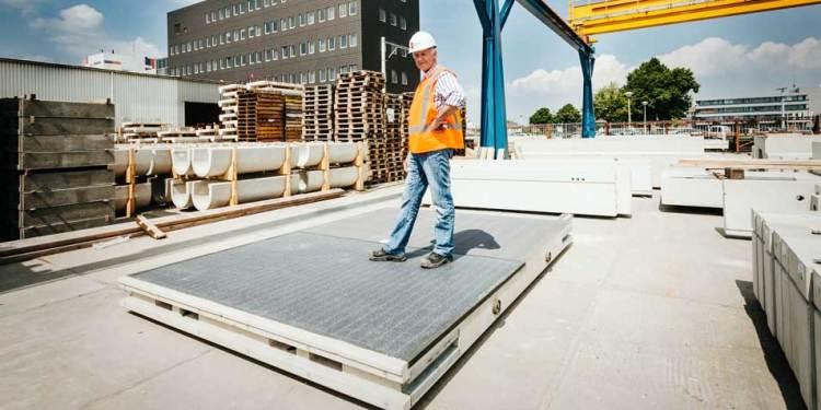 Een betonnen module. Afbeelding:  SolaRoad.nl