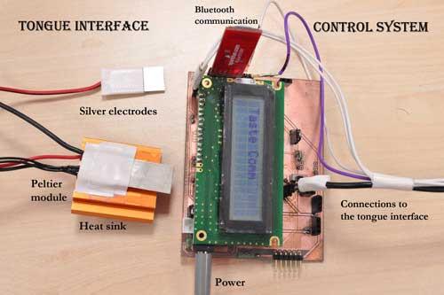Het prototype van de Digital Taste Interface. Afbeelding: Nimesha Ranasinghe.