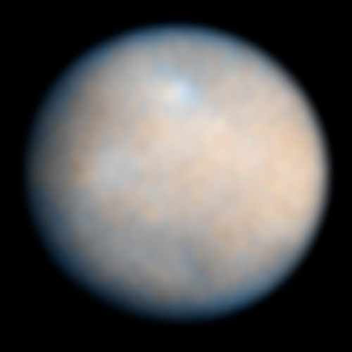 Deze foto maakte Hubble van dwergplaneet Ceres. De foto's die Dawn gaat maken, zullen dit kiekje doen verbleken. Afbeelding:  NASA / ESA / J. Parker (Southwest Research Institute) / P. Thomas (Cornell University) / L. McFadden (University of Maryland, College Park) / M. Mutchler & Z. Levay (STScI).