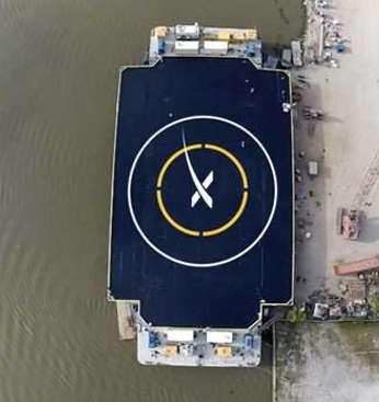 Het drijvende platform. Afbeelding: SpaceX.
