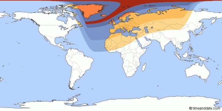De gedeeltelijke zonsverduistering is morgen in heel Europa zichtbaar.