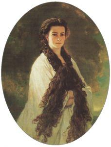 Portret van Sisi gemaakt door Franz Xaver Winterhalter.