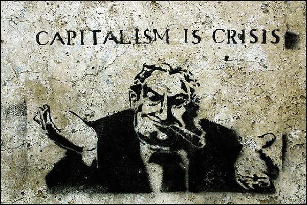 Campagne 'Capitalism is Crisis'. Foto gemaakt door Steffi Reichert. Bron: Flickr.com.