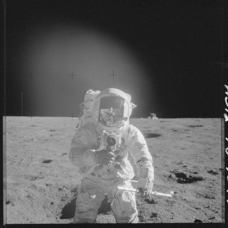 Een foto gemaakt tijdens de Apollo 12-missie. Afbeelding: NASA.