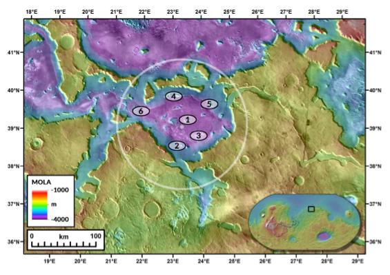 Deuteronilus Mensae, een plek met meerdere interessante onderzoeksmogelijkheden.