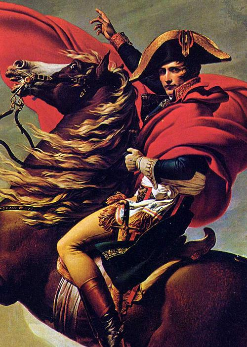 Napoleon Bonaparte. Afbeelding: Jacques-Louis David.