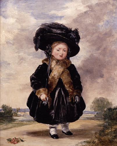 Victoria op vierjarige leeftijd. Een schilderij gemaakt door Stephen Poyntz Denning.