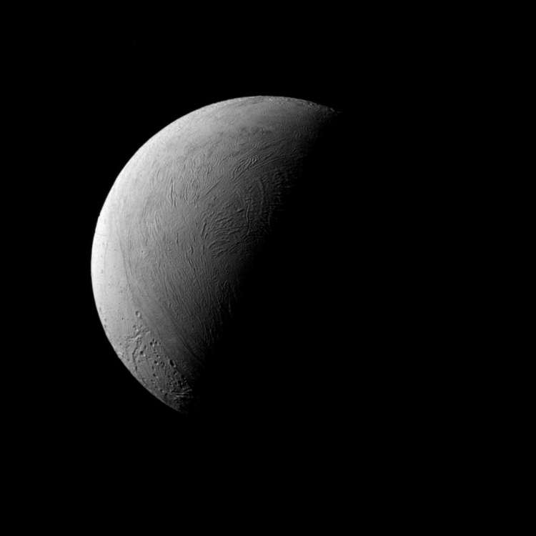 Enceladus. Afbeelding: NASA / JPL-Caltech / Space Science Institute.