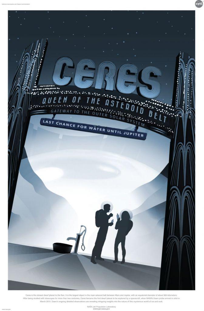 Dwergplaneet Ceres die we momenteel dankzij de ruimtesonde Dawn beter leren kennen. Afbeelding: NASA / JPL.
