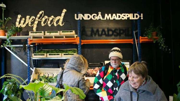 De nieuwe supermarkt Wefood in Denemarken.