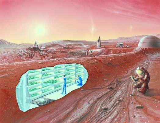 Een goeie manier om af te rekenen met de schadelijke straling aan het oppervlak van Mars: de Marsbasis onder de grond aanleggen! Afbeelding: NASA.