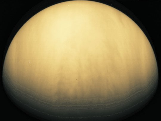 Venus. Afbeelding: Galileo / JPL / NASA / Calvin J. Hamilton.