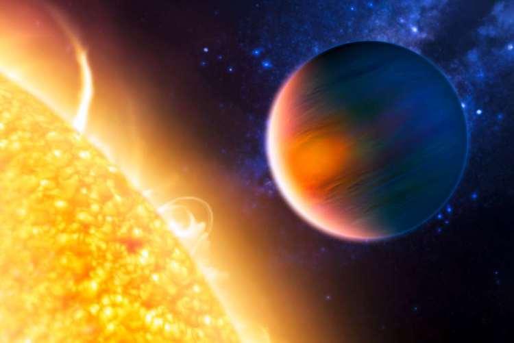 HD 189733b. Afbeelding: NASA.