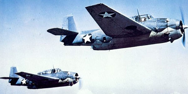 Flight 19 bestond uit vijf bommenwerpers, vergelijkbaar met de vliegtuigen die u hierboven ziet. Afbeelding: US Navy.