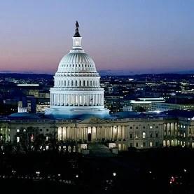 Dusk at U.S. Capitol, Washington, D.C.
