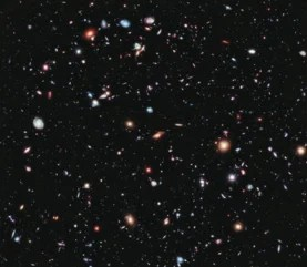 Thousands of galaxies fill an image from the Hubble Space Telescope