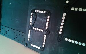Particolare dei LED nel tabellone contapunti.