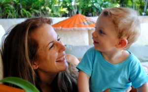 Kelly Preston & her son Benjamin