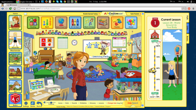 ABCMouse Home Screen