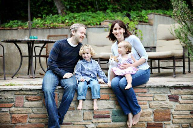 Jamie, her husband, and her two beautiful children.