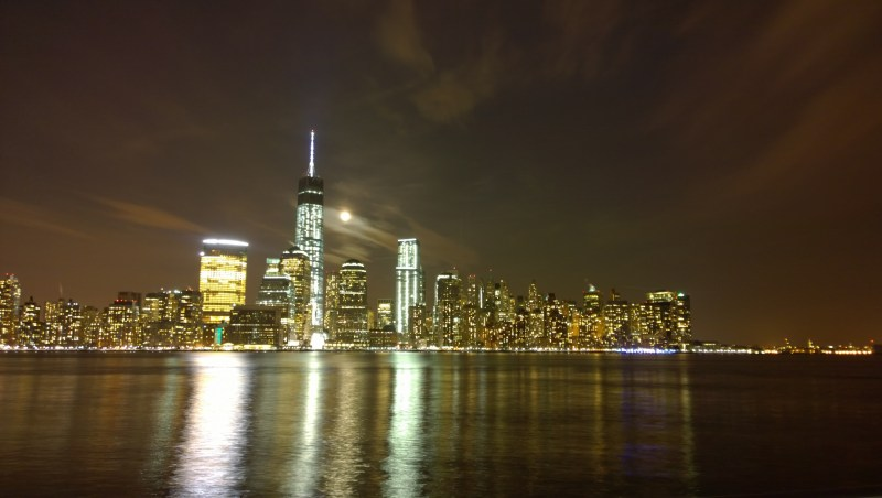 New York City's Freedom Tower, punctuating the Lower Manhattan Skyline, taken on my last trip to NYC.
