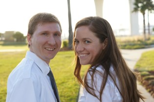 My sister and her husband, out on a walk with us in Clearwater.