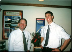 My dad and I on Scientology church staff together in DC