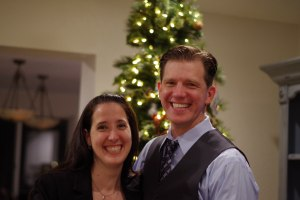 My wife and I at New Year's, celebrating 19 years as a couple