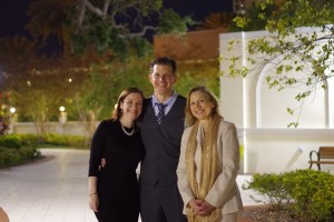 My mom, my sister and I after the Scientology New Year's Celebration at Flag