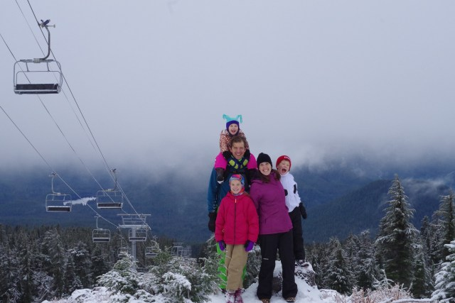 Our family at our favorite mountain in the world.
