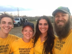 Kirstie (second from left) with her fellow Scientology Volunteer Ministers