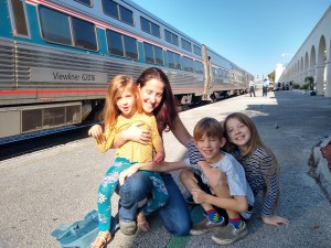 Family with the Amtrak Silver Star