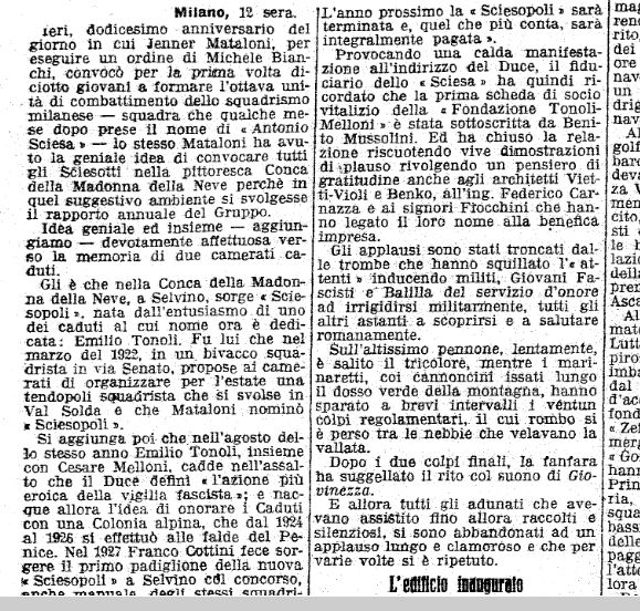 13-06-1933 inaugurazione Sciesopoli fascista