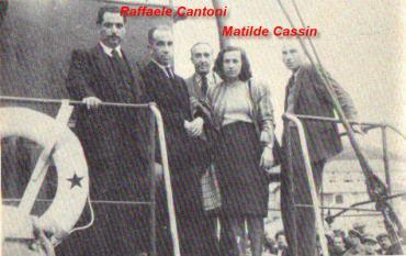 Matilde Cassin e Raffaele Cantoni sulla nave Fade