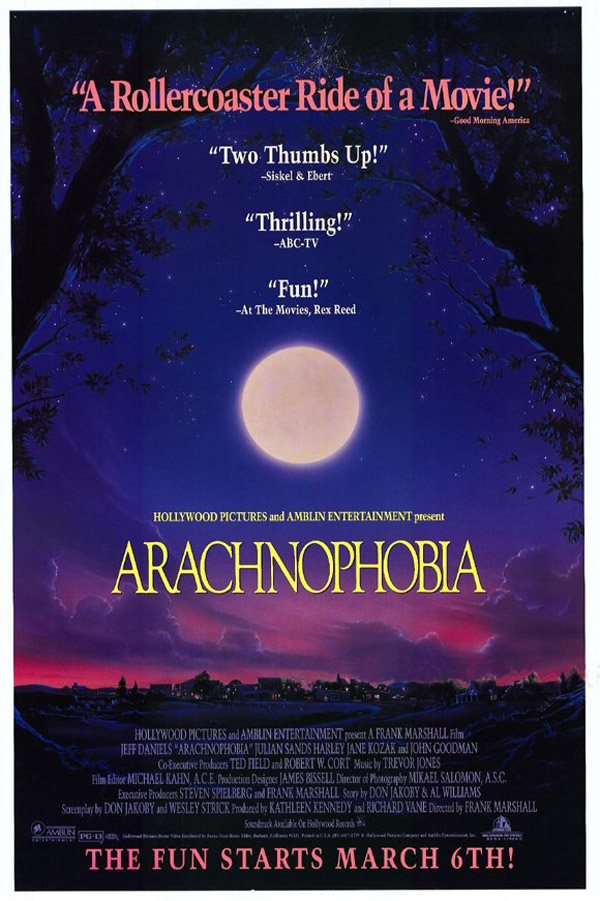 Image result for arachnophobia 1990 poster