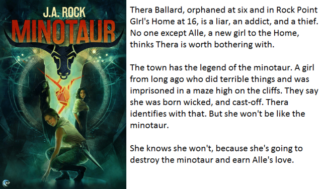 Book Cover and Synopsis for Minotaur by J.A. Rock