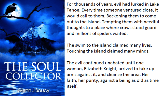 Book cover and synopsis for The Soul Collector