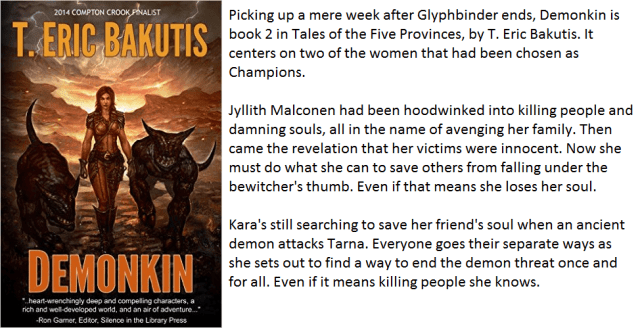 Book Cover and synopsis for Demonkin by T. Eric Bakutis