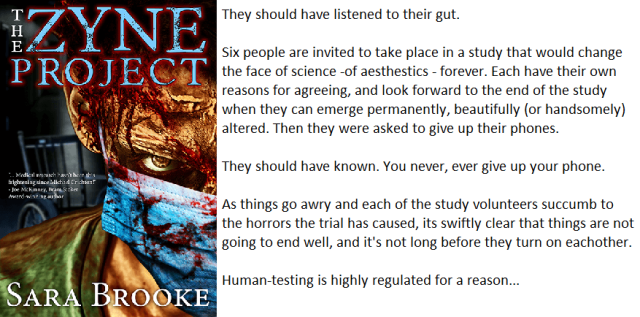 Book Cover and Synopsis for The Zyne Project by Sara Brooke
