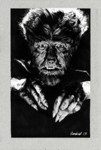 Picture of a Wolfman Drawing