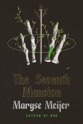 The cover is all black with two human finger bones on either side of a carpentry nail. The title is underneath in a gold outline. The authors name, Maryse Meijer, is centered below in white letters.