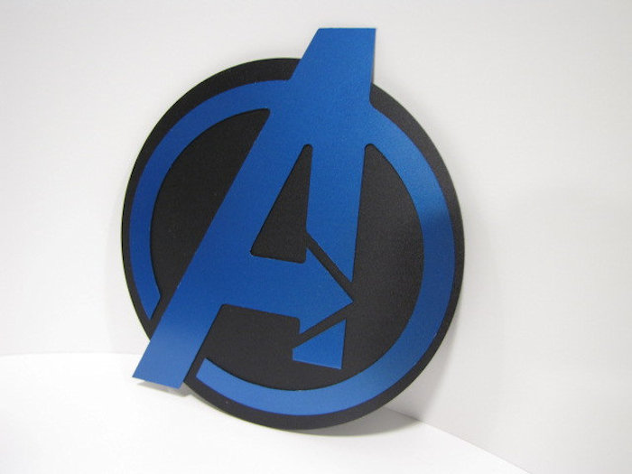 Cool Superhero Wall Emblems Sci Fi Design