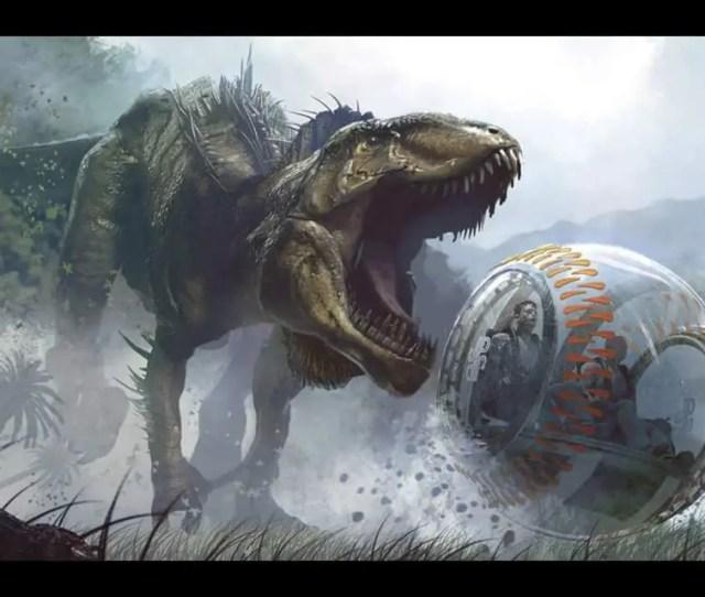 Jurassic World Indominus Rex Vs Gyrosphere Concept Art