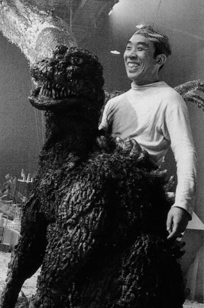 Image result for a picture of the man in the godzilla suit