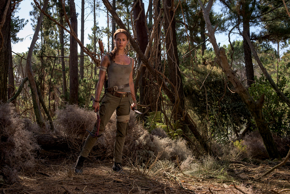 "ALICIA VIKANDER as Lara Croft in Warner Bros. Pictures and Metro-Goldwyn-Mayer Pictures' action adventure ""TOMB RAIDER,"" opening March 16, 2018. Photo by Graham Bortholomew"