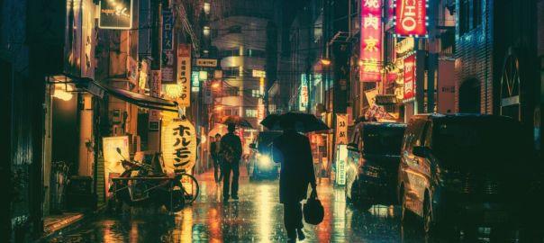 pioggia notturna