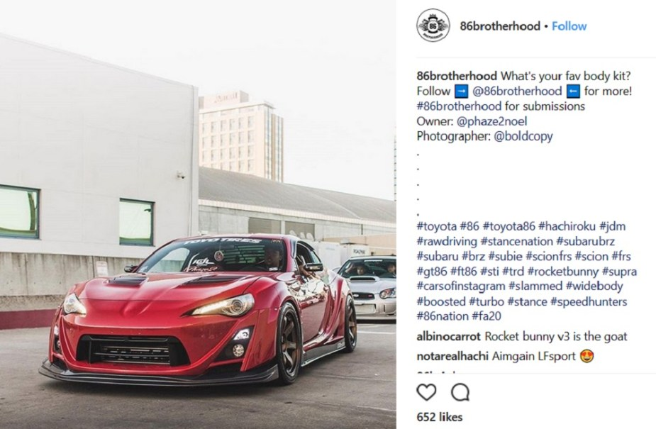 ScionLife.com Instagram Account of the Week #10: 86brotherhood