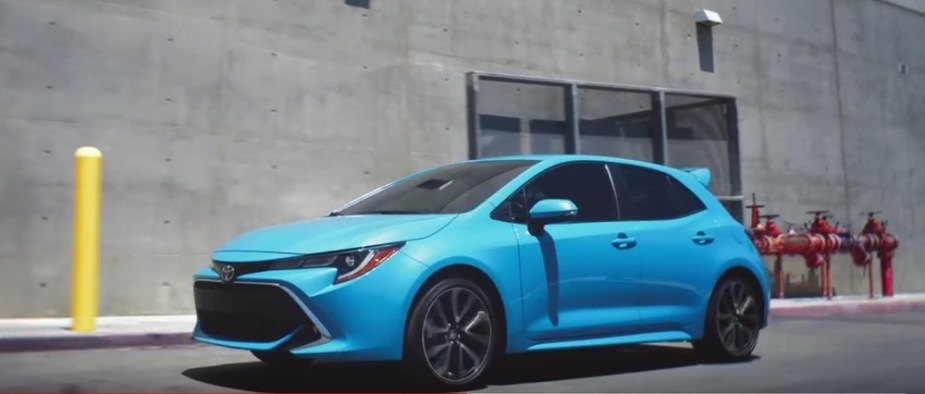 Toyota Tag with 2019 Corolla Hatchback scionlife.com