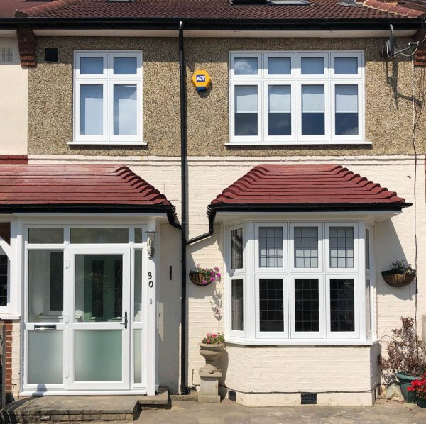 New Windows and a Composite Door Added to the Updated Porch