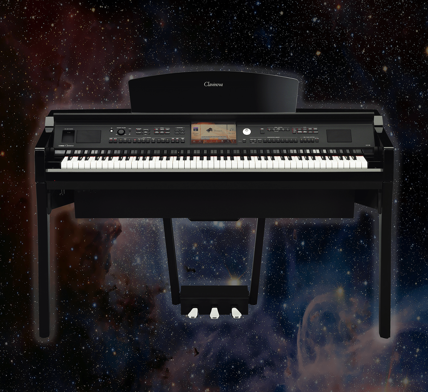 Yamaha Clavinova Cvp709 Pe Digital Piano Polished Ebony